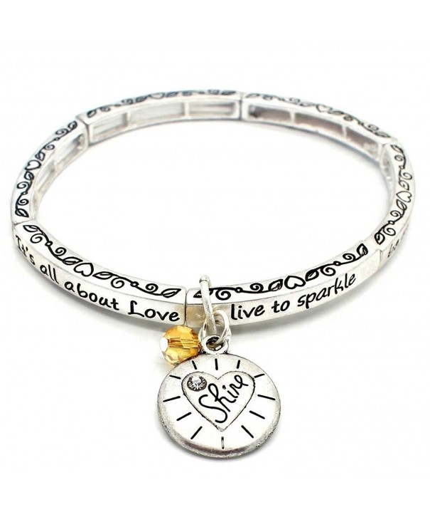 About Love Charm Bracelet Shine