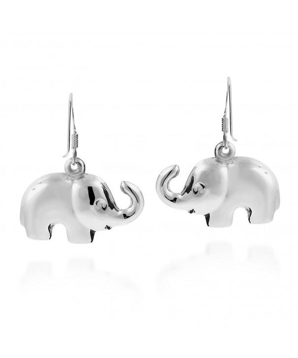 Elephant Sterling Silver Dangle Earrings