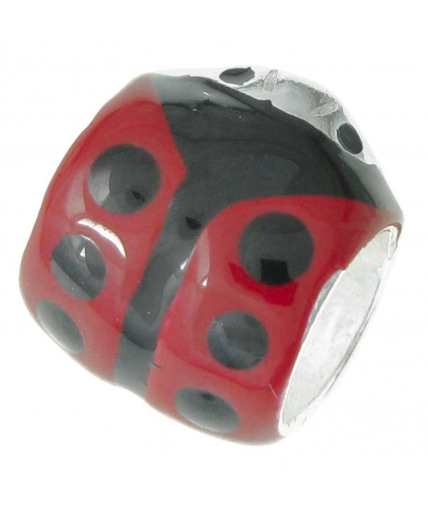 Sterling Ladybug Ladybird European Bracelets
