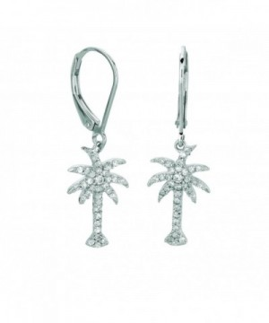 Sterling Silver Rohdium Cubic zirconia Earring