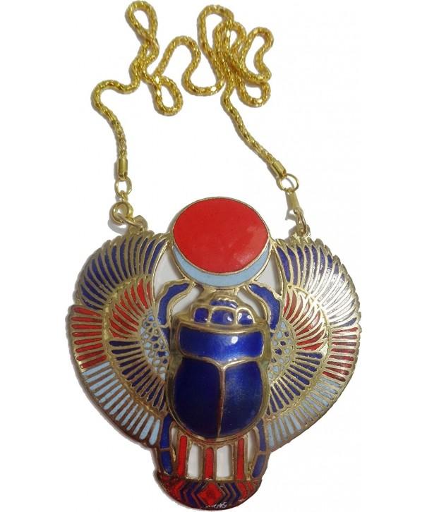 Necklace Pendanat Jewelry Enameled Egyptian