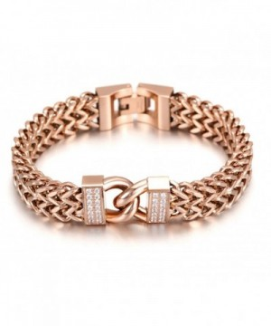 Plated Double Maille Bracelet Infinity