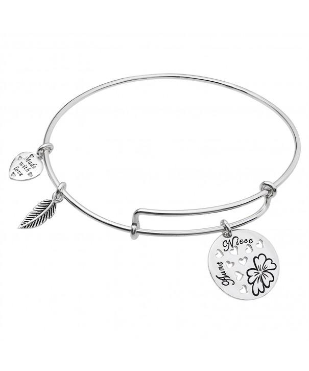 Sterling Silver Family Expandable Bracelet