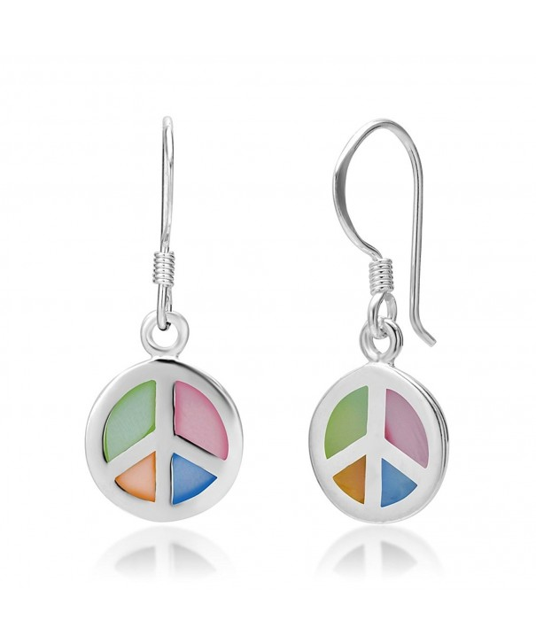 Sterling Silver Multi Colored Mother Earrings
