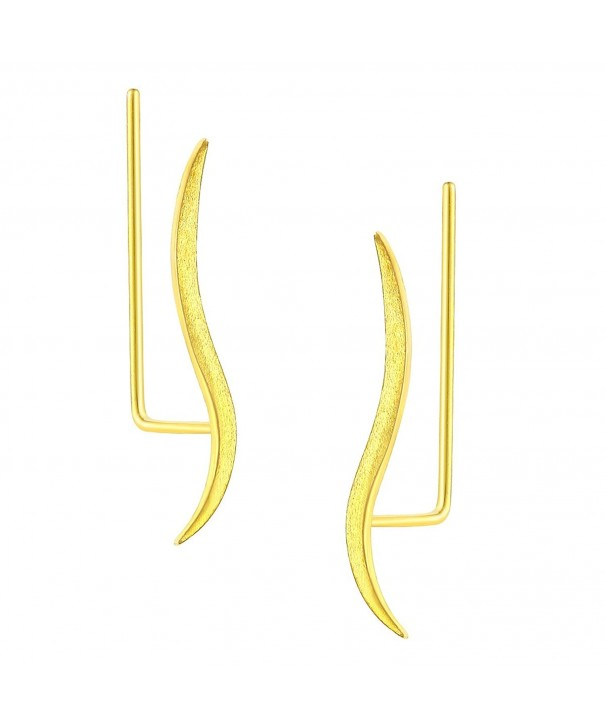 DOMILINA Sterling Crawler Earrings Delicate
