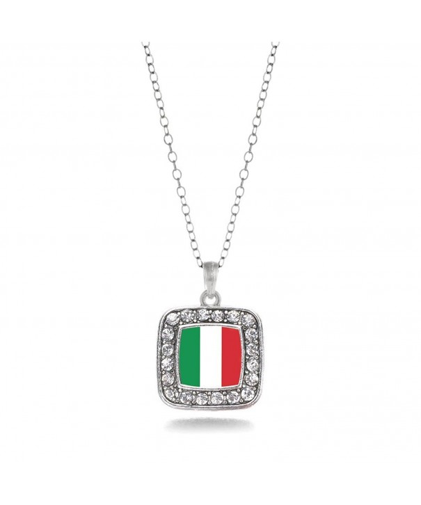 Italian Classic Silver Crystal Necklace