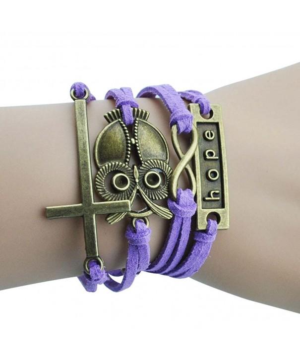 Purple Elegance Religious Infinity Bracelet