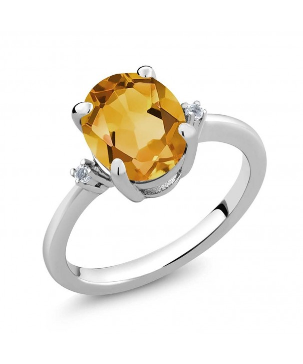 Yellow Citrine Gemstone Birthstone Sterling