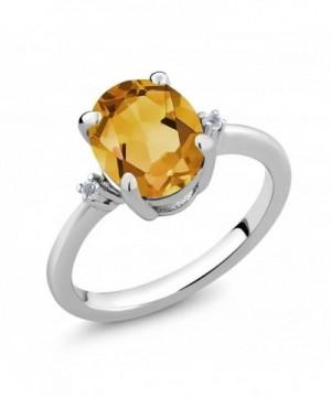 Yellow Citrine Gemstone Birthstone Sterling