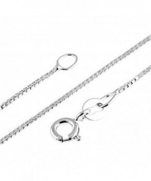 Italian Millimeter Sterling Silver Necklace