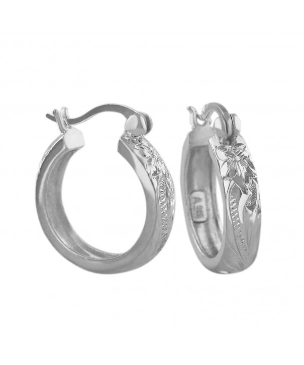 Sterling Silver Inch Engraved Earrings