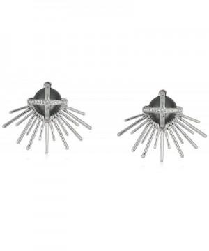 Danielle Nicole Rock Silver Earrings