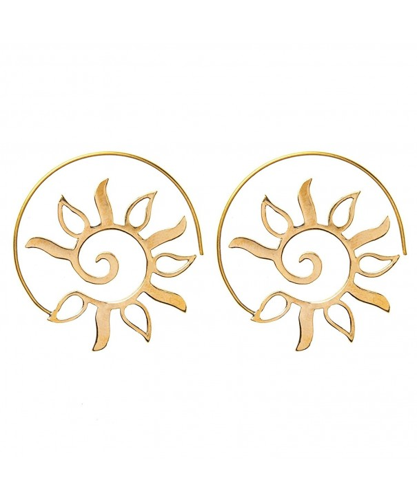 81stgeneration Womens Spiral Ethnic Earrings