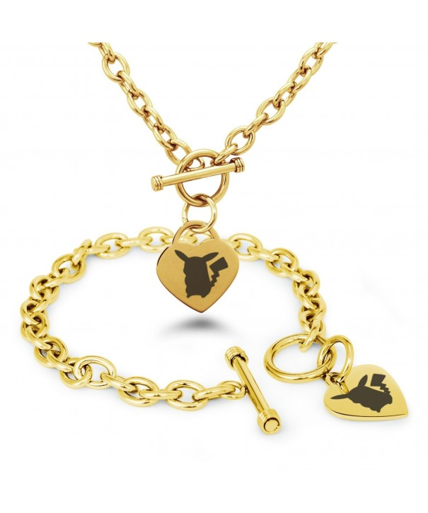 Stainless Pikachu Pokmon Bracelet Necklace
