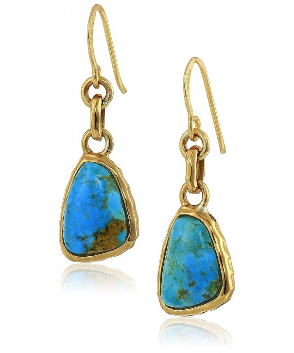 Barse Basics Genuine Turquoise Earrings
