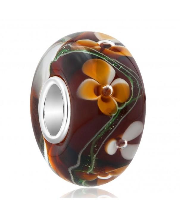 ReisJewelry Flower Lampwork Sterling Bracelets