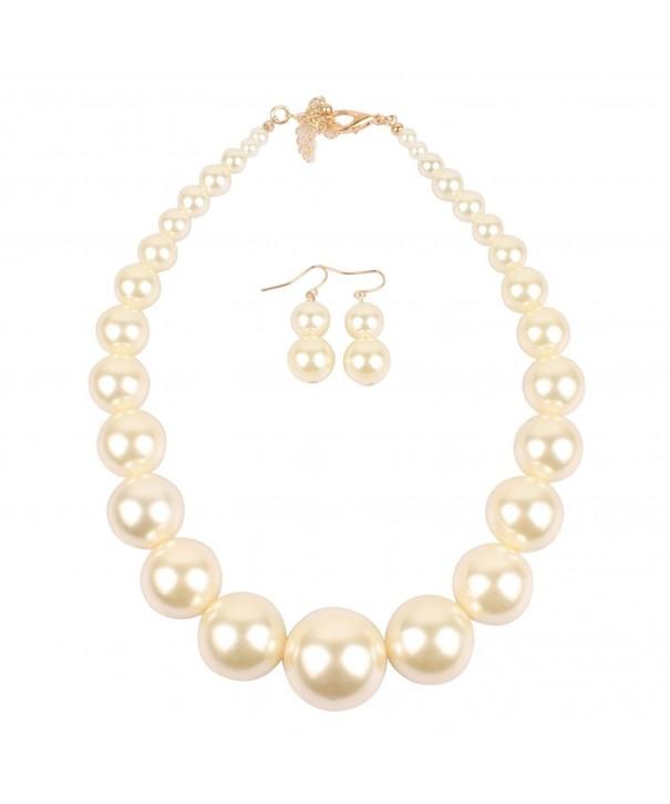 KOSMOS LI Imitate Strand Necklace Earrings