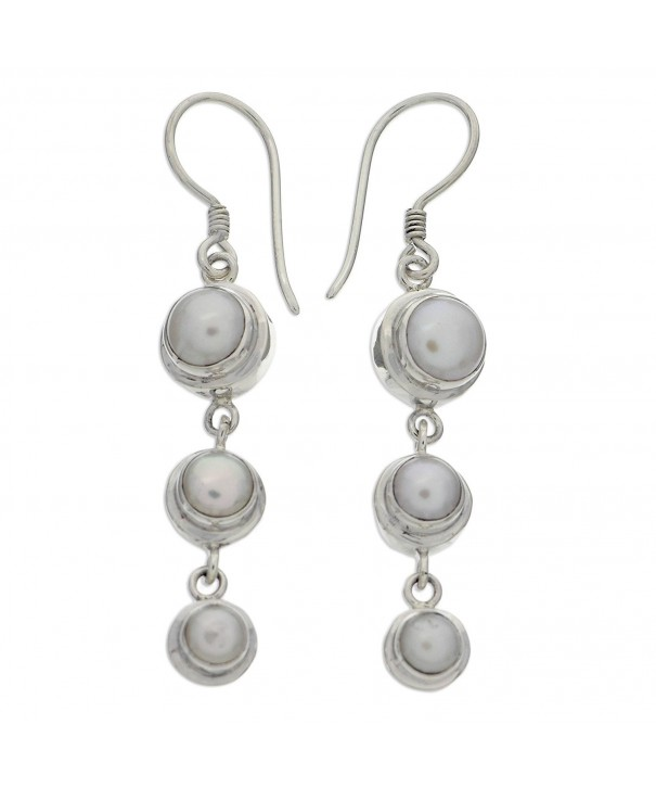 NOVICA Sterling Earrings Cultured Freshwater