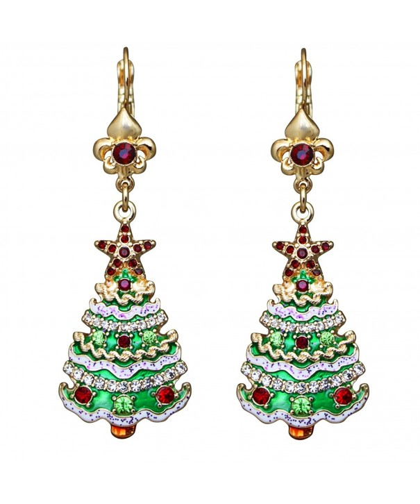 Ritzy Couture Christmas Leverback Earrings
