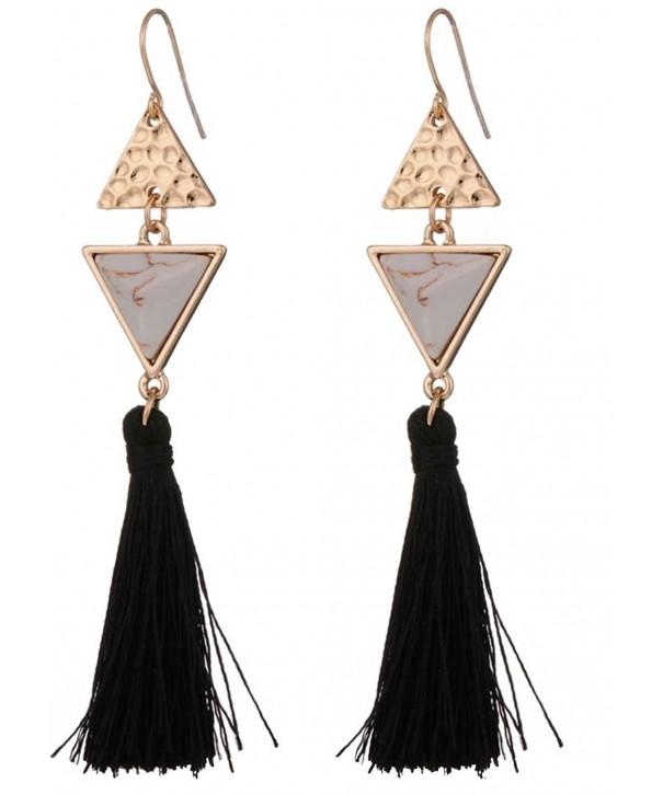 Tassel Earrings Geometric Shapes Available