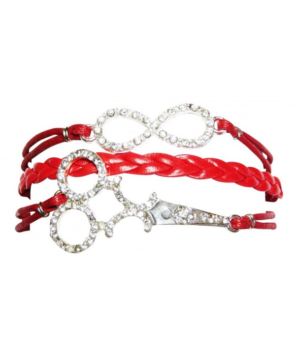 Leather Bracelet Bling Infinity Beautician