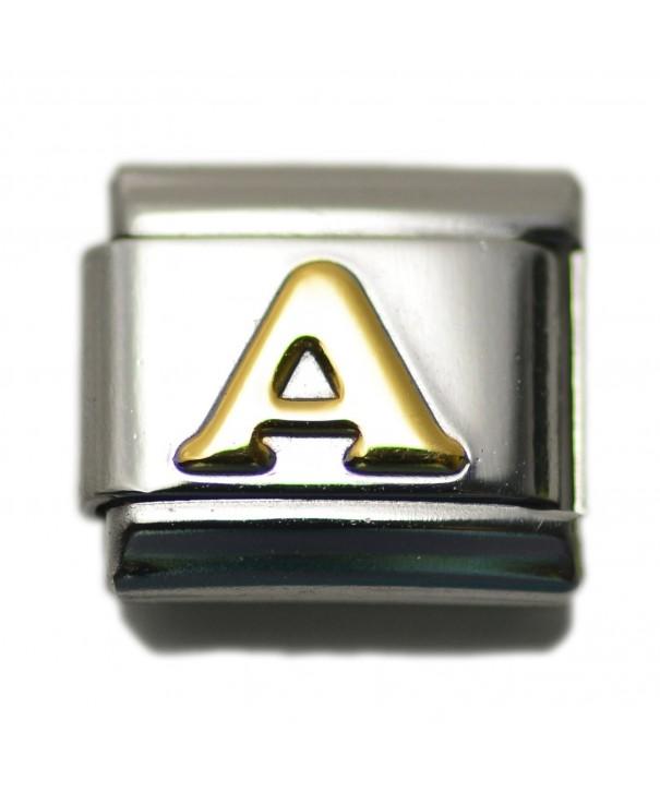 Letter Italian Charm Bracelet Alphabet