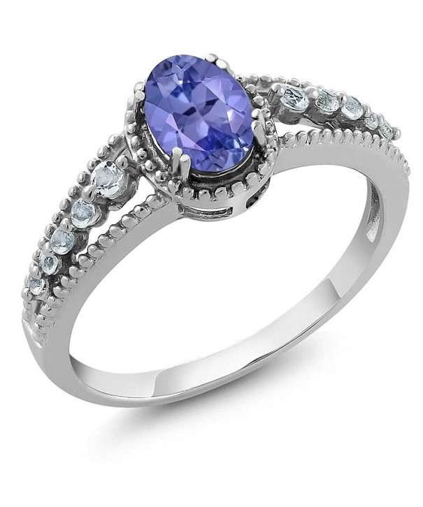 Natural Tanzanite Sterling Silver Womens