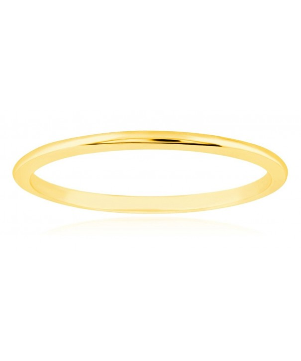 Thin Yellow Gold Wedding Band