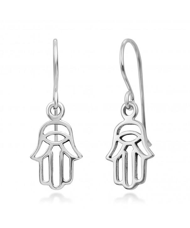 Sterling Silver Fatima Symbol Earrings