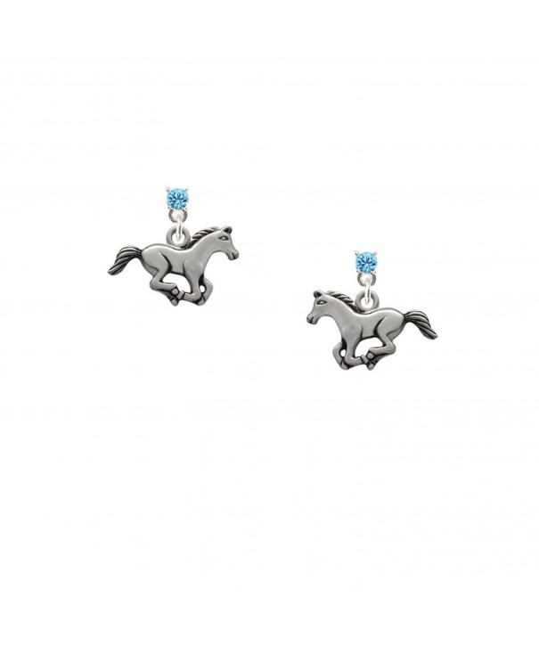 Delight Running Horse Crystal Earrings