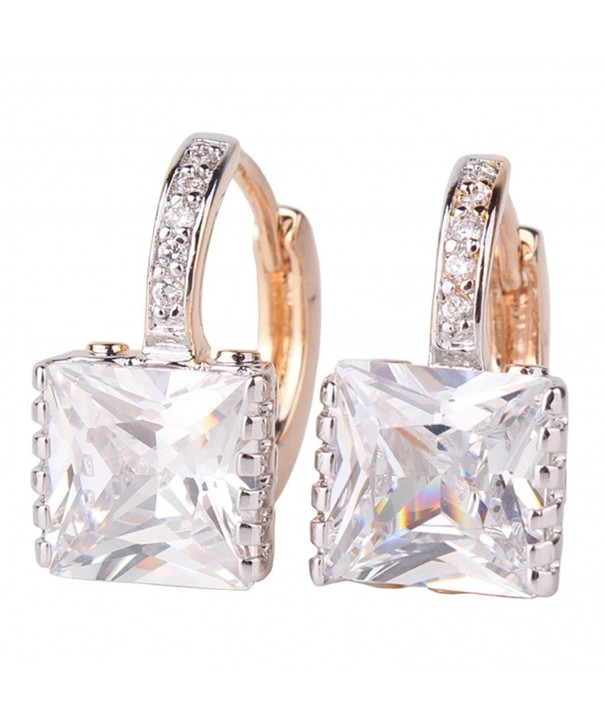 GULICX Zircon Sparkle Crystal Earrings
