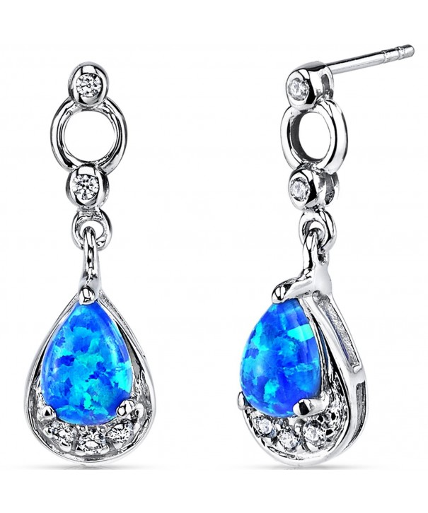 Created Dangling Earrings Sterling Silver