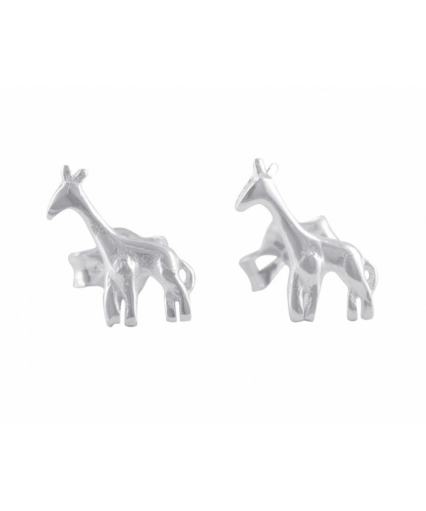 Sterling Silver Small Giraffe Earrings
