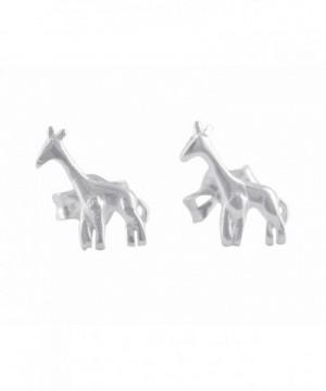 Sterling Silver Small Giraffe Earrings