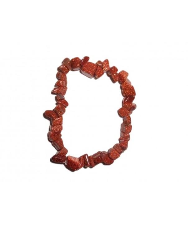 Natural Healing Goldstone Gemstone Bracelet