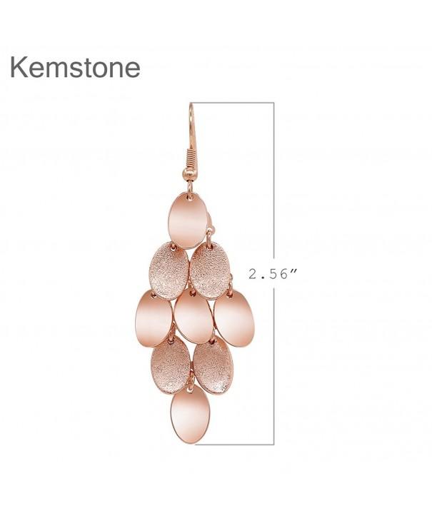 Kemstone Brushed Plated Dangle Earrings