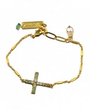 Mariana Plated Crystal Sideways Bracelet