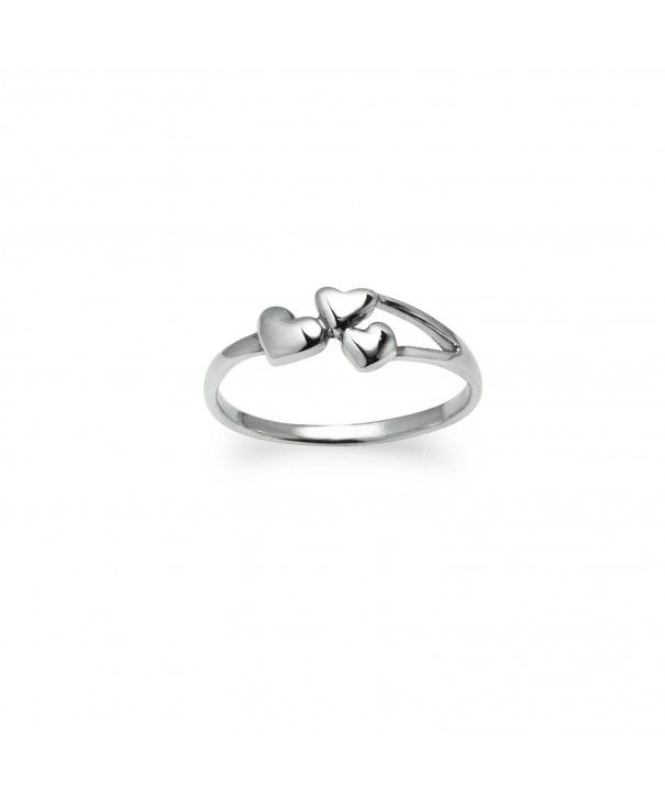 Sterling Silver Triple Hearts Ring