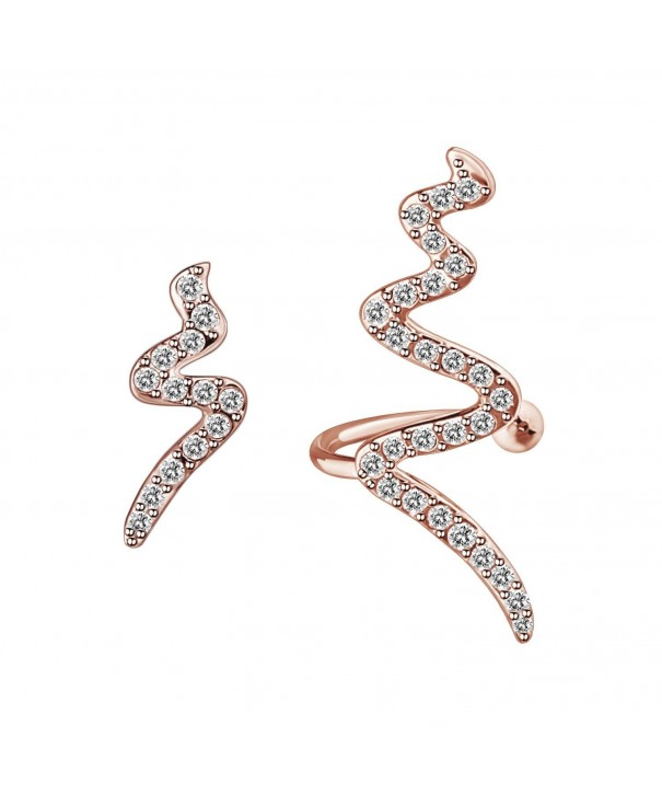 Lighting Asymmetry Simulated Diamond Earrings