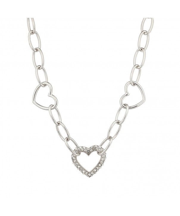 Lux Accessories Crystal Valentine Necklace