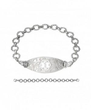 Divoti Engraved Filigree Bracelet Chian White 7 5