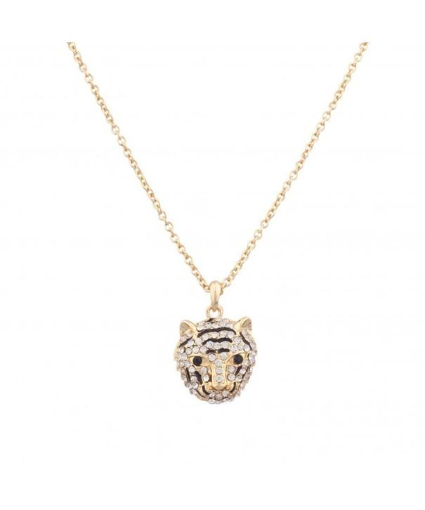 Lux Accessories Panther Pendant Necklace