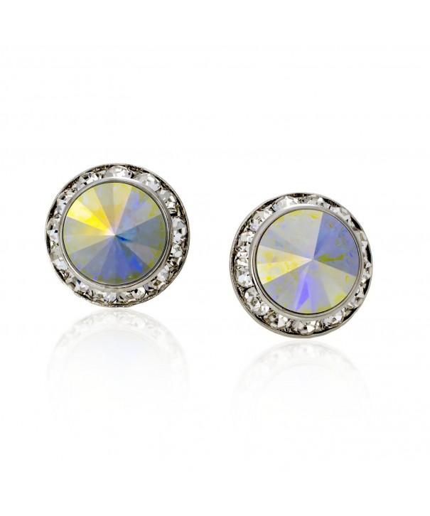 PammyJ Aurora Borealis Crystal Earrings