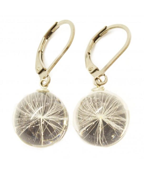 Earrings Dandelion Handmade Fashion Jewelry