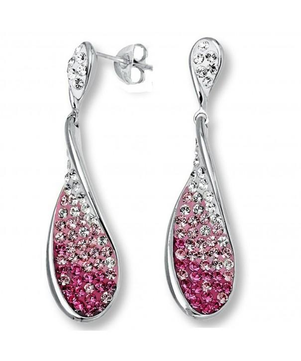 Sterling Silver Earrings Swarovski Crystals