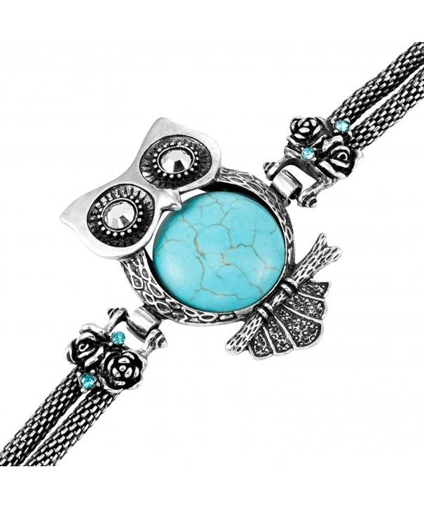 Stunning synthetic turquoise Bracelet Vintage Jewelry