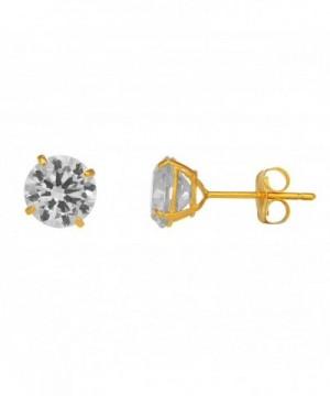 JewelStop Solid Basket Setting Earrings