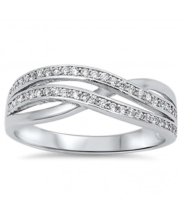 Style Zirconia Infinity Sterling Silver