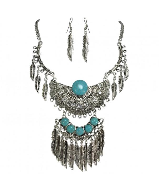 Simulated Turquoise Western Southwestern Necklace