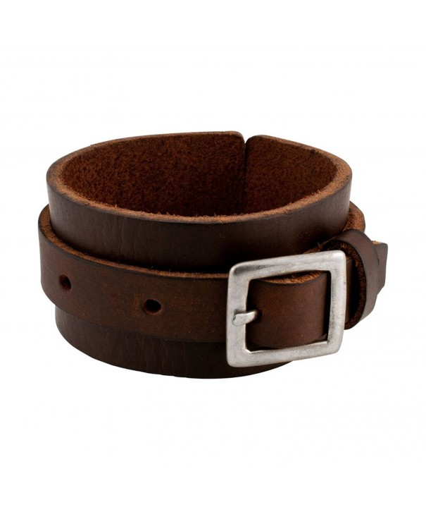 Napoli Leather Distressed Adjustable Bracelet